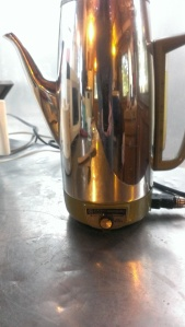 The vintage coffee pot that we use unironically at the campground.